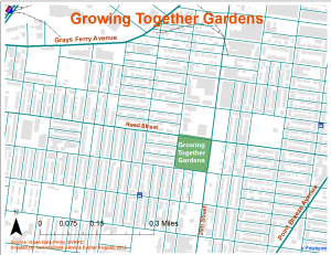 Growing Together Gardens Map